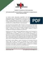 Comunicado Respaldo Diputado Aníbal García
