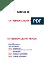 10 Entrepreneurship Report