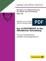 Der E-POSTBRIEF in der öffentlichen Verwaltung - Chancen, Einsatzoptionen und rechtliche Handlungsspielräume