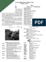 October 13, 2013 Bulletin