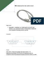 INFORME elaboración del cable serial
