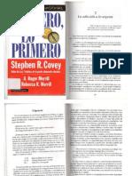 COVEY, Primero, Lo Primero Pgs 39 a 52