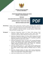 Permenpu02-2012 Pedoman Penyusunan Rencana Umum Jaringan Jalan