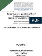 Trivelato 2013 - Curso Agentes Quimicos Criticos ABHO