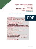 LAMPEA-Doc 2013 - numéro 32 / vendredi 11 octobre 2013