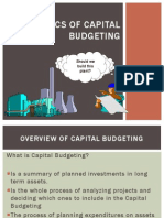 Basic Capital Budgeting