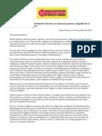 Carta de las defensoras de derechos humanos de Mesaomérica a las maestras mexicanas.
