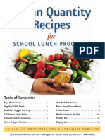 Vegan Quantity Recipes for School Lunch Programs