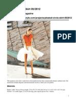 Pleated Circle Skirt 052012 Original