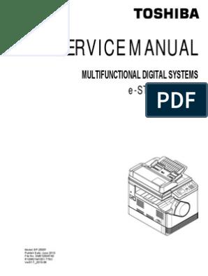 TOSHIBA E-STUDIO 2505 F service manual | Image Scanner | Electrical