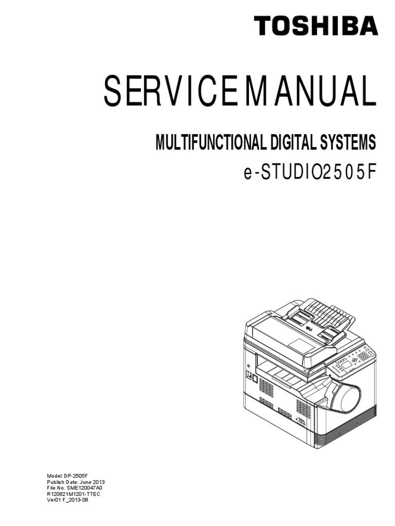 toshiba e studio 2505 f service manual image scanner electrical rh scribd com service manual toshiba e-studio 350-450 full Toshiba Studio 450s Toner E