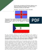 Mensaje de D. Rafael Evita Ika, presidente de Êtômbâ â Ndowé a los Pueblos y Ciudadanos de Guinea Ecuatorial, con motivo de la manifestación del día 12 /10/ 2013.