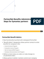 Benefits Administration Steps for Symantec Partners