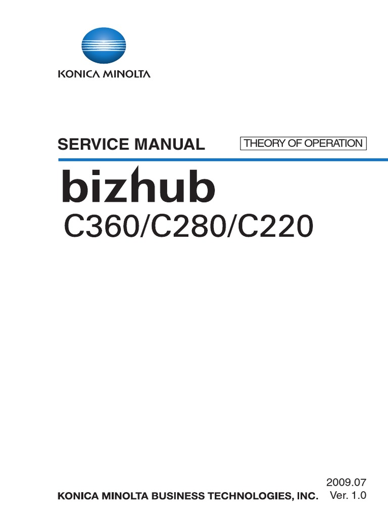 Konica Minolta Bizhub C220 C280 C360 THEORY OF OPERATION | Ac Power Plugs  And Sockets | Electrical Connector