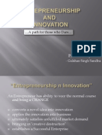 Entrepreneurship n Innovation - G1