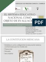 El sistema educativo nacional como objeto de evaluación