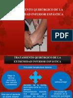 TRATAMIENTO QUIRÚRGICO DE LA EXTREMIDAD INFERIOR ESPÁSTICA