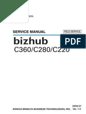 Konica Minolta Bizhub C220 C280 C360 SERVICE MANUAL | Ac