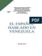 EL ESPAÑOL HABLADO EN VENEZUELA CARLOS