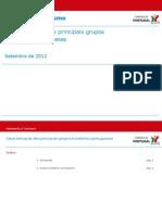 Principais Grupos Hoteleiros Portugueses (Set 2012)