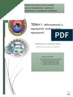 Tema 1 Adm y Org Moderna de Las Organizaciones