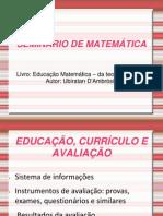 SEMINÁRIO DE MATEMÁTICA