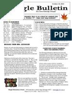 Beagle Elementary School Newsletter October 10 2013