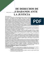 Carta de Los Derechos de Los Ciudadanos Ante La Justicia