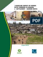 Report of a Baseline Survey of Women Domestic Workers in Mukuru Informal Settlement - Nairobi Kenya