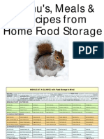96987937 Menu s Meals and Recipes From Home Food Storage