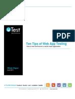 10 Tips Web App Testing