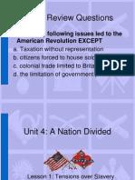 Tensions Over Slavery LI