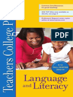 Language and Literacy Education, Teachers College Press. Fall 2013