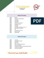 Programa 22 y 29 agosto