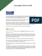 Dicas - Transforme páginas HTML em PHP