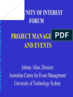 Project Management and Events