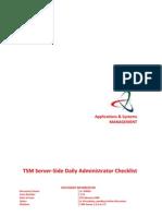 TSM - Server-side Daily Administrator Checklist