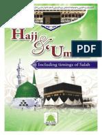 Hajj and Umrah Including Timings of Salah