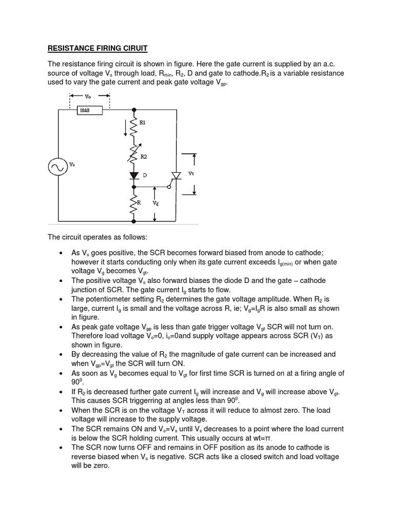 R And Rc Firing Circuits