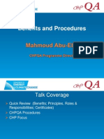 CHPQA Benefits and Proceduers2011