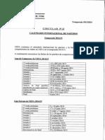 Calendario Internacional 2014-2015