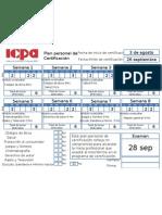 Ejemplo de llenado de plan de certificación ICPA