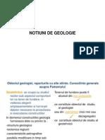 Notiuni de Geologie