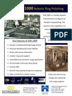 VDK1000 Robotic Jewelry polishing work cell