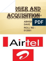 Airtel merger and acquisition