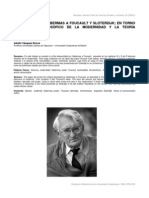 Las Criticas de Habermas a Foucault y Sloterdijk en Torno Al Discurso Filosofico de La Modernidad y La Teoria Consensual