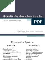 Phonetik Der Deutschen Sprache