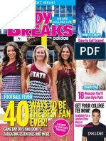 Study Breaks Magazine, October 2013- SM