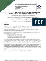 (PRODUTOS DA REAÇÃO ÁLCALI-SILICATO EM CONCRETOS DE EDIFICAÇÕES DA REGIÃO DO GRANDE RECIFE - PE