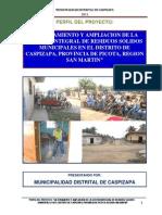 Perfil Del Pip Residuos Solidos - Caspizapa